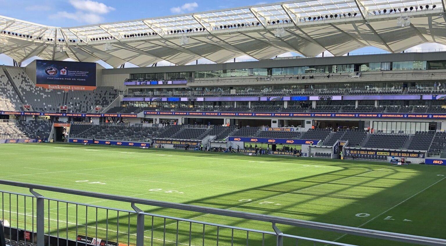 Bankwest Stadium Parramatta before the gates opened.